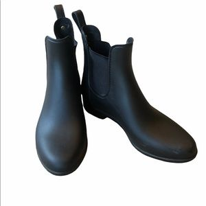 Sam Edelman Tinsley Rubber Rain Boot Black Matte